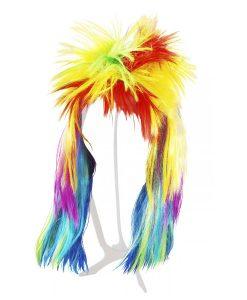 holi rainbow wig