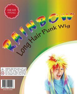 holi rainbow wigs
